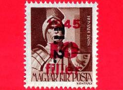 UNGHERIA - Nuovo - 1946 - Liberazione Dell'Ungheria - Janos Hunyadi (1385-1456) - Sovrastampato 'Tl. 2.' 10 Su 4