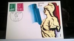 FRANCIA 1976 MAXIMUM MARIANNE DE BEQUET - Cartoline Maximum