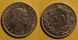 Schweiz, 20 Rappen 1925 - Suisse