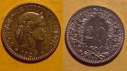 Schweiz, 20 Rappen 1929 - Suisse