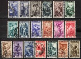 ITALIA - 1950 - SERIE ITALIA AL LAVORO - FILIGRANA RUOTA - USATI