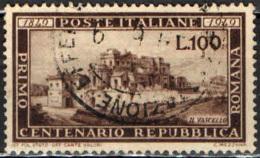 ITALIA - 1949 - CENTENARIO DELLA REPUBBLICA ROMANA - USATO