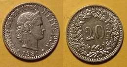 Schweiz, 20 Rappen 1931 - Suisse
