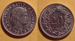 Schweiz, 20 Rappen 1934 - Suisse