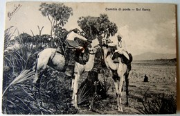 CPA-KP-PC- Erytree - COLONIA ITALIANA -- CAMBIO DI POSTA BARCA - Erythrée
