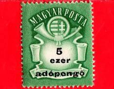 UNGHERIA - Nuovo - 1946 - Stemma E Corno Postale - Arms And Posthorn - 5.000 Adopengo