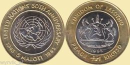 LESOTHO 1995 UN United Nations 5 Maloti Bimetall - Lesotho
