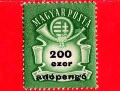 UNGHERIA - Nuovo - 1946 - Stemma E Corno Postale - Arms And Posthorn - 200.000 Adopengo