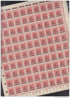 INFLA DR 312 A A,  Vollständiger Bogen (100 Marken), Plattennummer 6/6, Postfrisch **