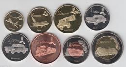 LUGANSK REPUBLIC 2014 Set Of 8 Coins - Monnaies