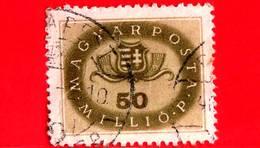 UNGHERIA - Usato - 1946 - Stemmi Araldici - Arms Of Hungary - 50.000.000 P