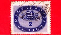 UNGHERIA - Usato - 1946 - Stemmi Araldici - Arms Of Hungary - 2.000.000 P