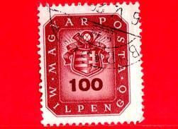 UNGHERIA - Usato - 1946 - Stemma E Corno Postale - Arms And Posthorn - 100.000.000 P