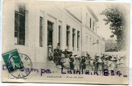- BIRKADEM - ( Algérie ), Ecole Des Filles, Avec Leurs Beaux Chapeaux, écrite, 1908, TBE, Scans. - Algerije