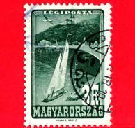UNGHERIA - Usato - 1947 - Luoghi Famosi - Lago Balaton - Posta Aerea - 3 - Posta Aerea