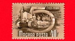 UNGHERIA - Usato - 1950 - Piano Quinquennale - Meccanizzazione In Agricoltura - Trattore - 40