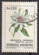 1436 Argentina 1983  Flowers Fiori Della Passione Passiflora Caerulea Tree Albero Used