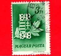 UNGHERIA - Usato - 1948 - Centenario Della Rivoluzione E Guerra D'indipendenza Del 1848 - Stemma - 3