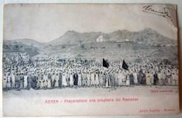 CPA-KP-PC- Erytree - COLONIA ITALIANA --  CHEREN LA PREGHIRA DEL RAMADAN MOSCHEA - Erythrée