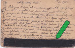 Russia Prisoner Card . Part Of Text Painted Out By Censor
