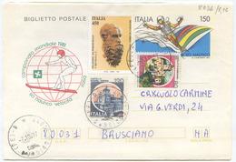 1981 BIGLIETTO POSTALE SCI NAUTICO L. 150  CON INTEGRAZIONE 7.10.97 TARIFFA L. 800 SPLENDIDA QUALITA (8036) - 6. 1946-.. Repubblica