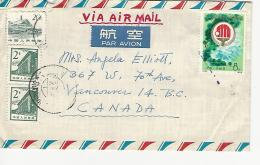 36838 ) China Cover To Canada Airmail See Scans