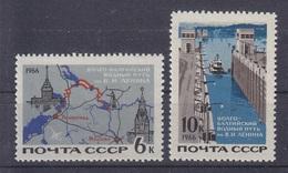 Russia 1966, Volga-Baltic Waterway; Mi#3254-3255, MNH
