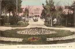 64 - Hendaye - Le Casino, L'Avenue Du Casino Vus Du Square - Hendaye