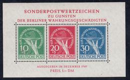 Berlin - Währungsgeschädigten (Riforma Monetaria) 1949 - Block/Foglietto N. 1 **