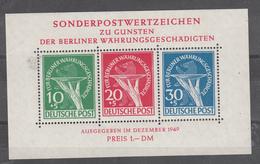 Berlin - Währungsgeschädigten (Riforma Monetaria) 1949 - Block/Foglietto N. 1/I **