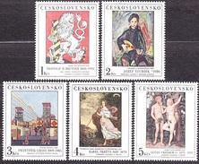 CZECHOSLOVAKIA 1986, Complete Set, MNH. Michel 2889-2893. PAINTING - BRUNNER, STURDIK, GROSS, SKRETA, CRANACH.