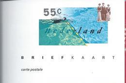 Swimming.Schwimmen.Zwemmen.Postal Stationery 100 Years Dutch Swimming Federation.2 Scan.  100 Jaar Zwembond.