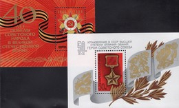 Held 1984 Orden Sowjetunion Blocks 173+182 ** 3€ Orden Sieg Im Krieg 1945 Flags Blocs Militaria Sheets M/s USSR SU