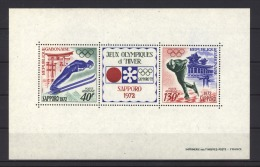 Gabon  -  Bloc  :  Yv  19  **    Sport  ,  JO Sapporo