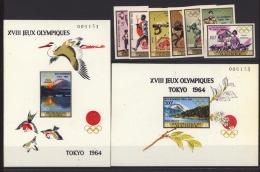 Guinée    :  Yv  265a-70a + Av 63a + Blocs 12a-13a  **    Sport  ,  JO Tokyo ,  Non Dentelé