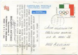 1998 CARTOLINA POSTALE SPORT OLIMPIADI USATA 10.10.01 SPLENDIDA QUALITÀ (7070) - 6. 1946-.. Repubblica