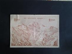 RARE BILLET SCOLAIRE  10 NF MONTAGNE    UNIFACE ANNEE 1940 - Fiktive & Specimen