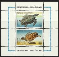 TURKEY   1989  SEA TURTLES   SHEET   MNH