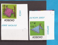 2007 KOSOVO EUROPA CEPT SCOUTS PFADFINDER SERBIA SRBIJA JUGOSLAVIJA RRR IMPERFORATE MNH