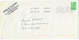FRANCIA - France - 2008 - Timbre Marianne De Lamouche Vert - Viaggiata Da 03151A Per Royan, France