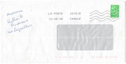 FRANCIA - France - 2008 - Timbre Marianne De Lamouche Vert - Viaggiata Da 03151A