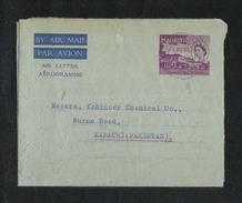 Mauritius 1957 Air Mail Postal Used Aerogramme Cover Mauritius To Pakistan - Maurice (1968-...)