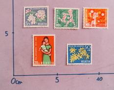 SUISSE 1962 PRO PATRIA PLANTES ENFANTS NEUF SWITZERLAND MNH CHILDRENS FLOWERS