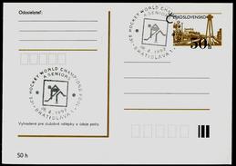 771-CZECHOSLOVAKIA Prepaid Postal Card World Ice Hockey Championships Bratislava 1992