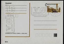 773-CZECHOSLOVAKIA Prepaid Postal Card AC NITRA - The First Year Of The National Hockey League 1990-1991