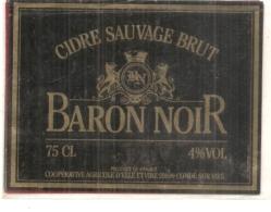 étiquette  - Cidre Sauvage Brut BARON NOIR - Condé Sur Vire - Labels