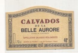 étiquette - 1960/90 CALVADOS  De La Belle Aurore - Whisky