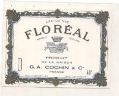 étiquette -  1950/70 - Eau De Vie FLOREAL  G A Cochin - Whisky