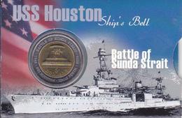 Australia - 5 Dollars 2002 - Bimetallic Battle Of Sunda Strait - UNC - Moneda Decimale (1966-...)