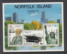 Norfolk Island Miniature Sheet Ameripex 86 MUH